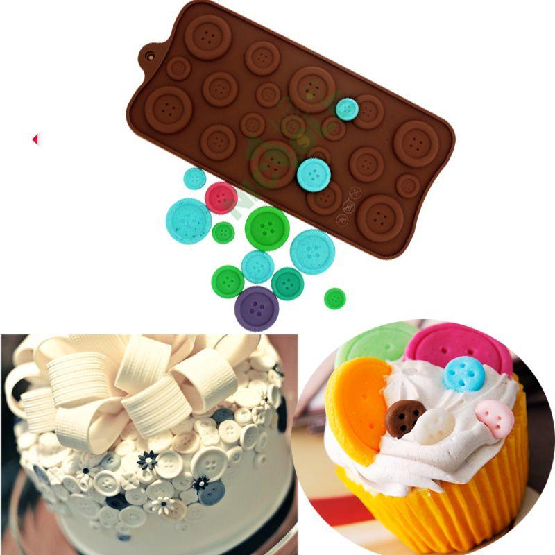 Bottoni cioccolato stampo in silicone mat bakeware fondente cake decorating zucchero artigianale strumenti pasticceria cupcake topper