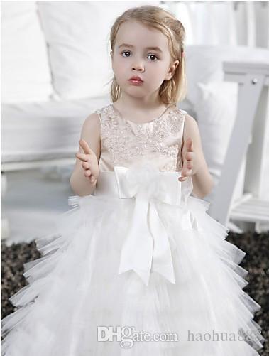 Großhandel Blumenmädchenkleider Für Hochzeiten Kleine Mädchen ...