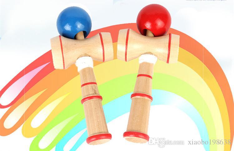 Горячие продажи навык Игрушка Шаровой Bamboo Jumbo Kendama Жонглирование игра Бал Джейд Меч Мяч для традиционной игрушки Новая марка