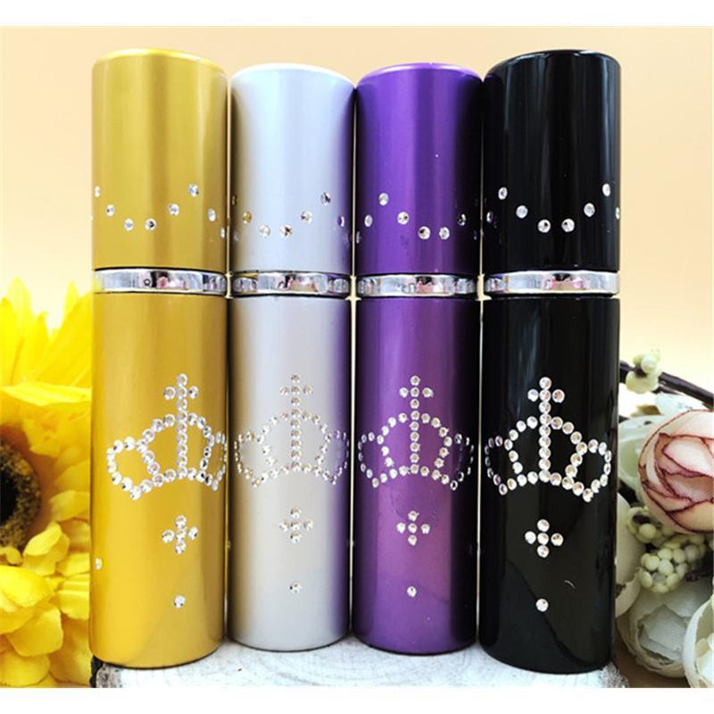5ml MINI bottiglia di profumo Atomizzatore Corona di strass Crown Metal profumo profumo Spray bottiglia regalo di trucco DC730