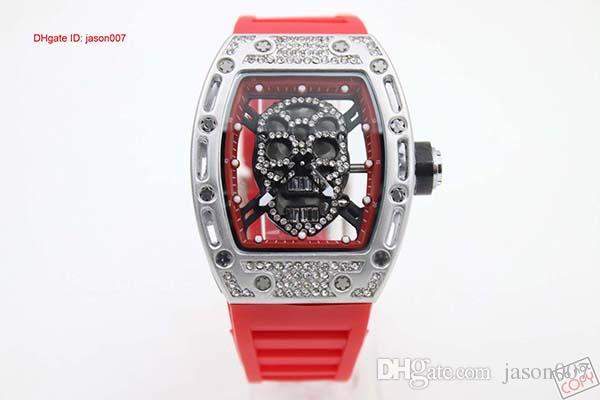 Бесплатная доставка прозрачный черный циферблат красный резиновый ремень женщин нержавеющей Pointer Часы женские моды Наручные часы Стиль