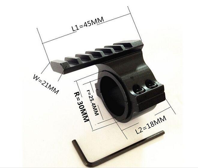 """30mm Ring W / 25.4mm 1 """"Einschubhalterung 20mm Schiene für Barrel Scope Torch Tube"""