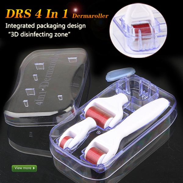 1200/720/300 Pins Dermaroller Skin Nursing System Meso Roller 4 in 1 Derma Roller