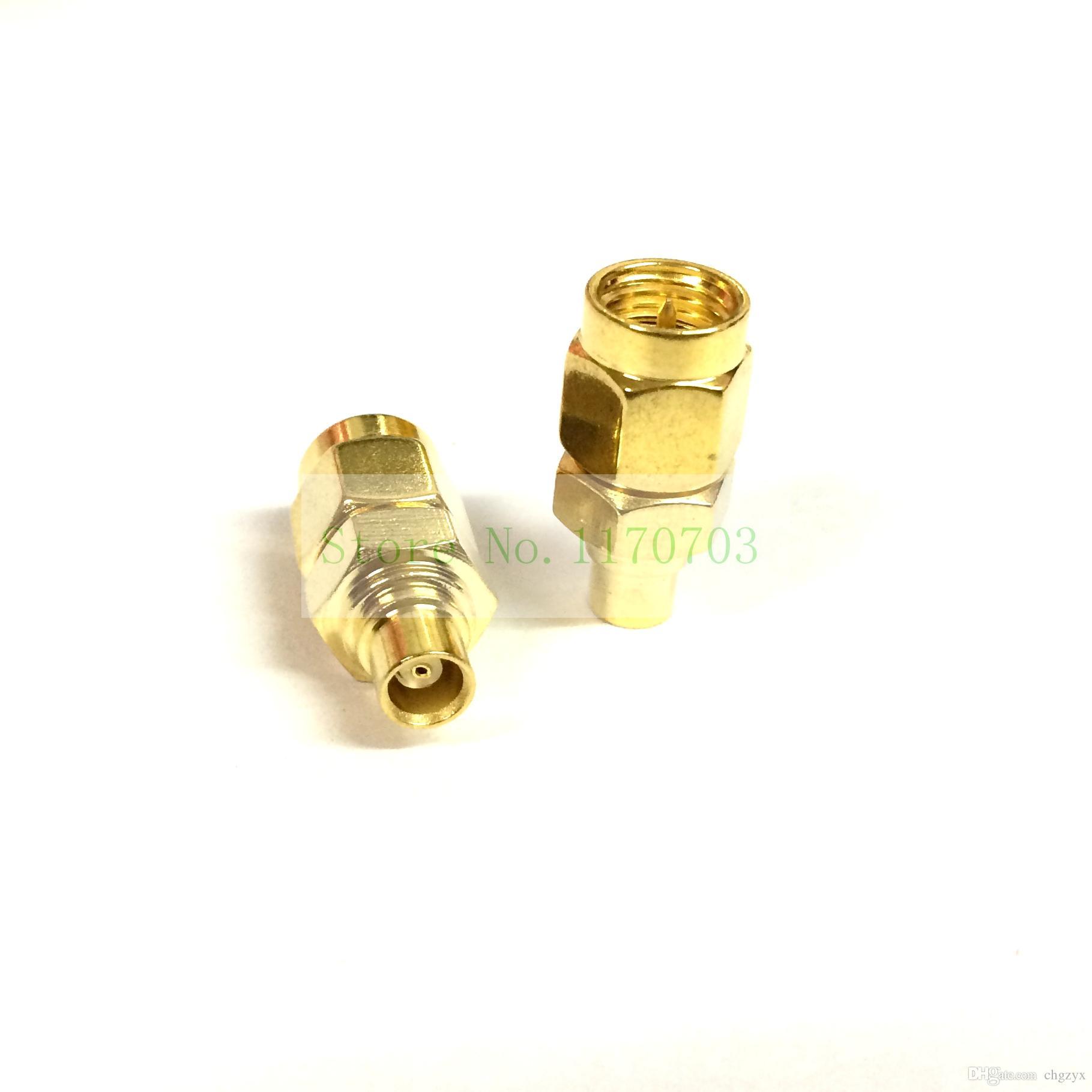 50 piezas Coaxial Goldmated SMA macho a conector hembra MCX Plug