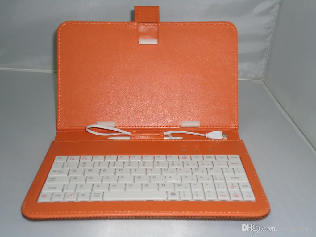"""Micro usb q8 q88 7 """"tablet pc pu teclado de couro stand case para 7 Polegada Crianças Tablet PC Q88 7"""" Tampa Do Teclado Caso Presente Para o Dia de Natal"""