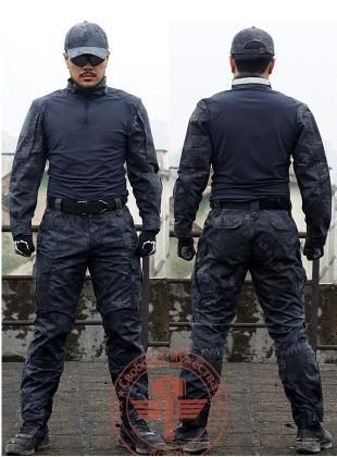 Venda quente de alta qualidade dos homens ao ar livre tático terno respirável para fora do campo de paintball conjunto de roupas de camuflagem CS wargame terno de combate