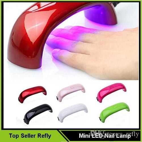 2016 Nuevo Mini LED Secador de Uñas Secador de Uñas Lámpara de Uñas de Arte Gel 9 W LED Luz Curado Máquina Secadora