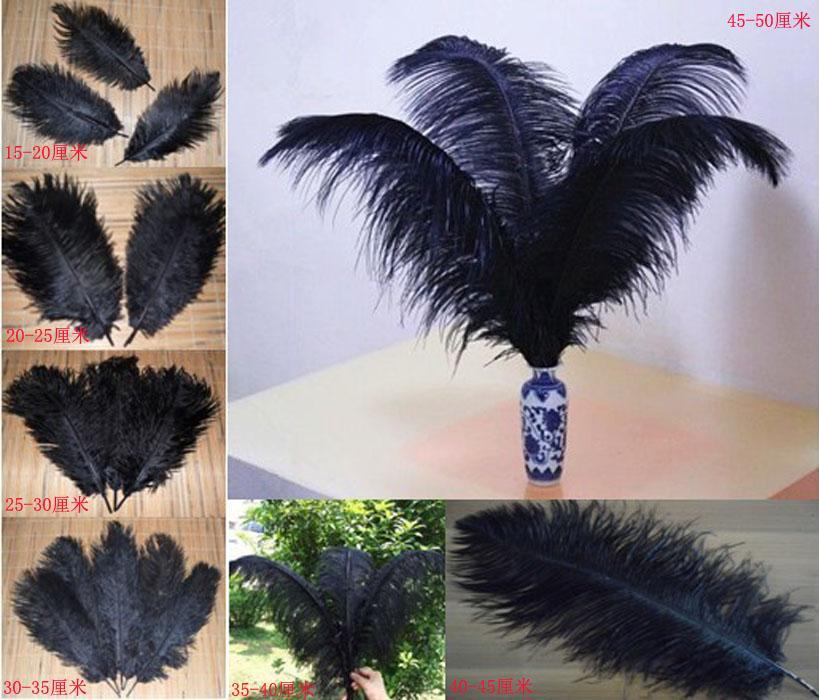 Perfect Black Strusi Feathers Plume Centerpiece Eiffel Centerpieces Centerpiece Ślubne Dla Wesele Party Stół Dekoracja Darmowa Wysyłka