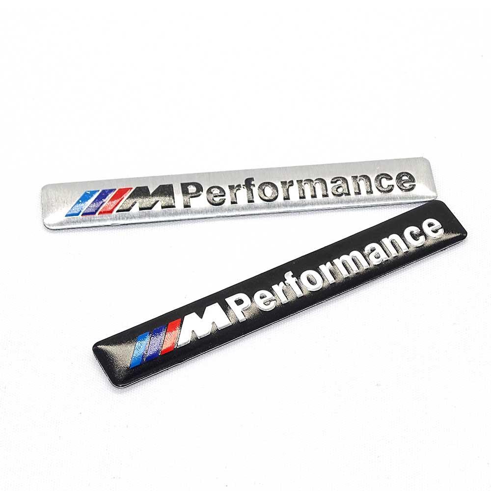 10 unids / set Car-Styling Motosport M Power Performance Logo Decal Sticker Emblem para BMW e30 e46 e60 e90 e92 f10 f20 Accesorios