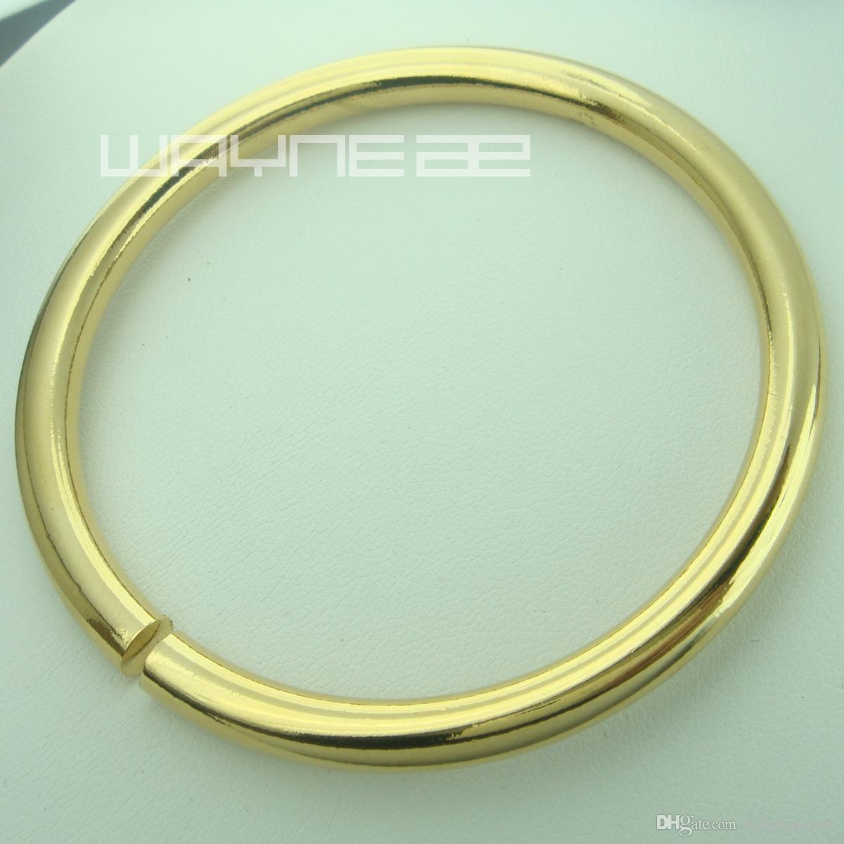 Bracciale rigido da donna da golf in oro massiccio 18 carati GF in oro giallo con diamanti D60mm 40g G101
