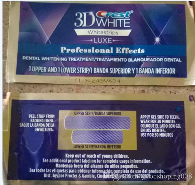 Original1box 40strips 20 Pouches Crest 3d White Luxe Professional