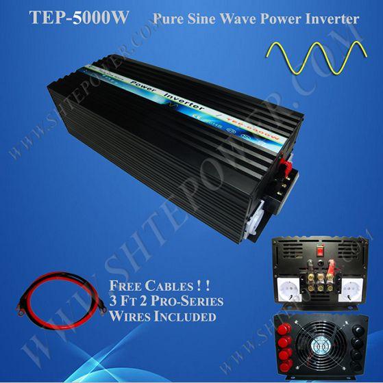 Home Gebruikt Solar Power Pure Sine Wave Peak Power 10KW DC AC-omvormer 12V 220V 5000W