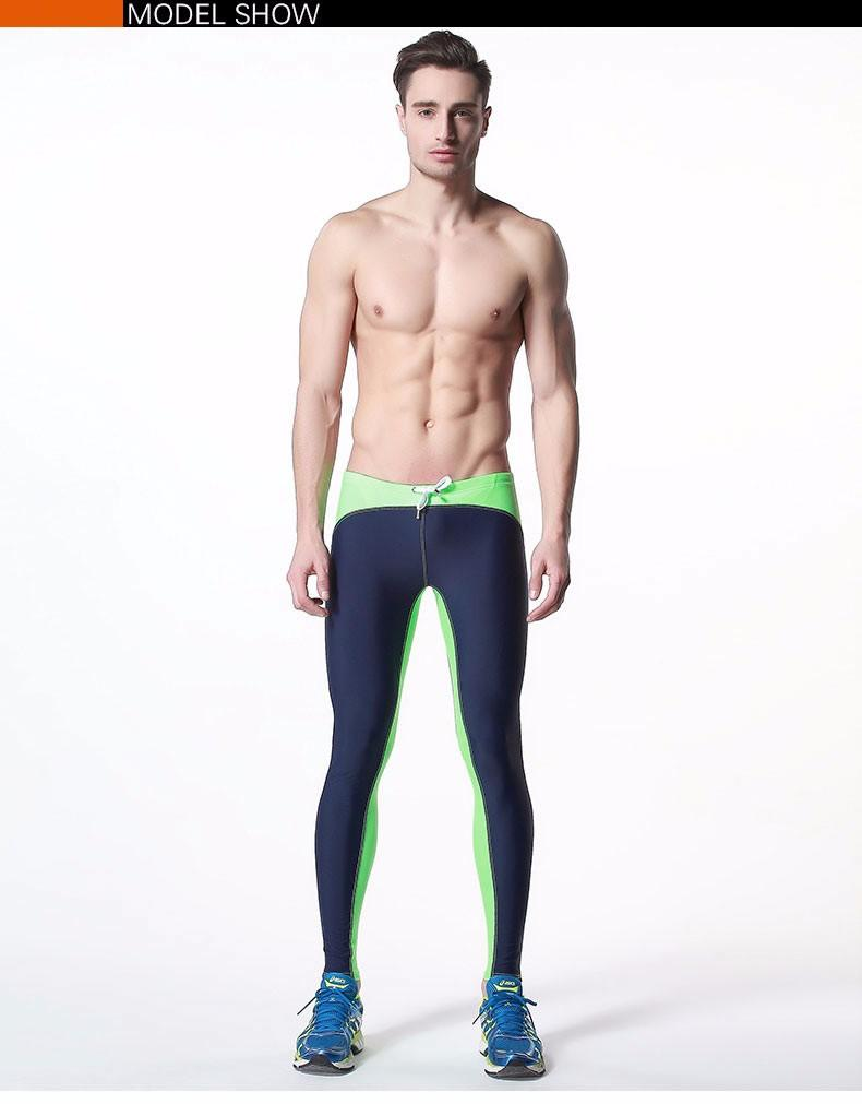 c9a8674d30 2019 2016 New Arrival Men Swim Tights Brand Swimwear Mens Long ...