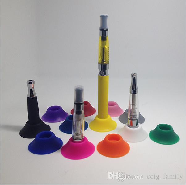 Ego Suckers e cigarette silicone sucker rubber base holder silicon display stands rubber caps pen stand for battery ego t evod e cigs