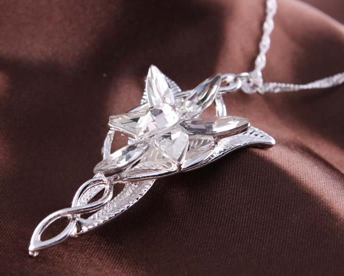 Wholesale 2016 movie the arwen evenstar pendant crystal stones 2016 movie the arwen evenstar pendant crystal stones necklace lord of ring torque love silver necklace aloadofball Choice Image