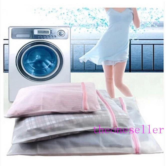 30 * 40CM كيس نايلون شبكة الغسيل لغسل الملابس الداخلية الصدرية سروال الرعاية غسل صافي حقيبة البرازيلي سلة الغسيل الجدة 300pcs المنزلية