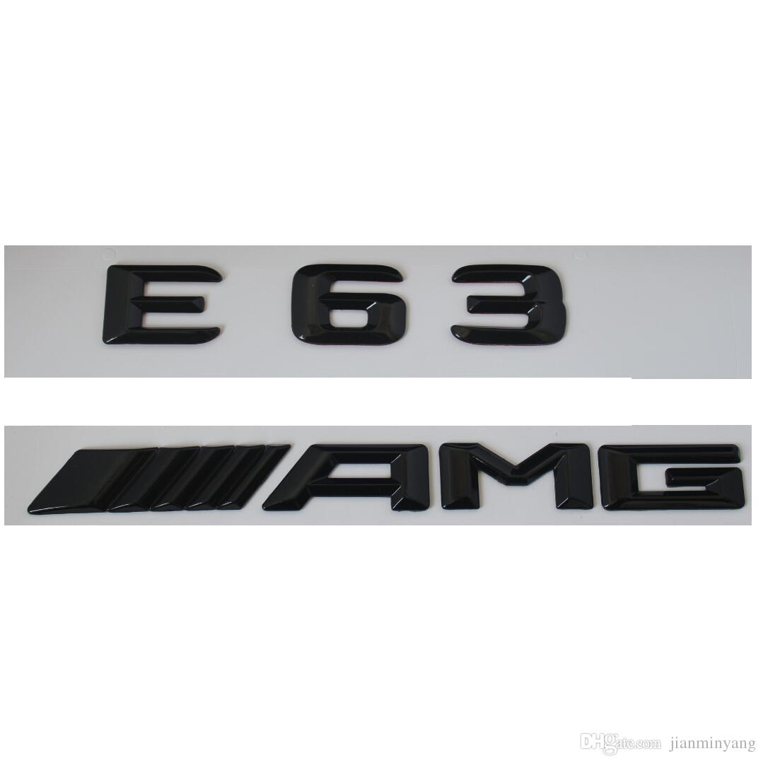 3D Gloss Black Rear Trunk Letters Emblems Badge for Mercedes Benz A250 4MATIC