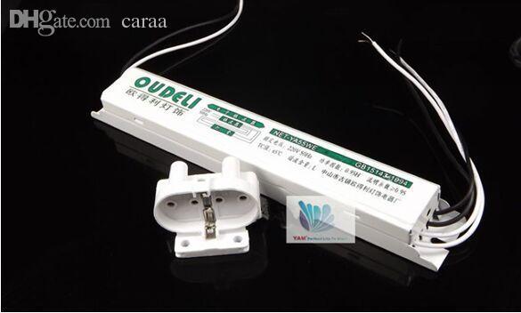 Envío al por mayor-libre, 2 piezas / lote, 2015 T8 AC220V 50 / 60HZ 55W Lastre electrónico para lámparas fluorescentes H Lámpara de espejo de tubo con portalámparas