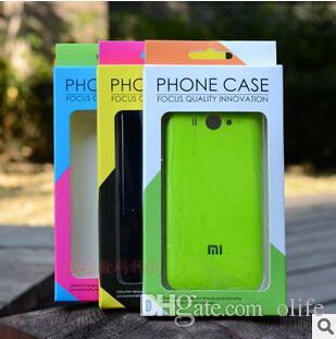 Dual color universal papel de varejo de plástico pacote caixas de caixa de embalagem para o telefone case capa iphone 8 7 5s 6 6 s plus samsung s6 s7