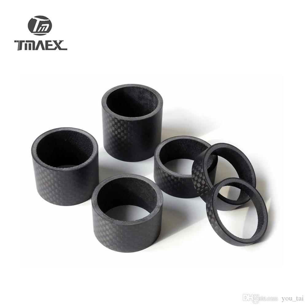 """Matte Black Carbon Fiber Bike Stem Spacer 2//3//5//10//15//20//30mm 7 28.6mm 1 1//8"""""""