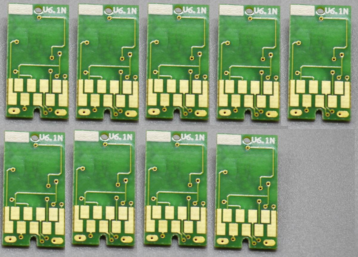 9 шт/много горячий! Перестановный обломок для принтера Inkjet Epson профессионального 7890 9890, 700ml, совместимого обломока патрона чернил T6361-T6369