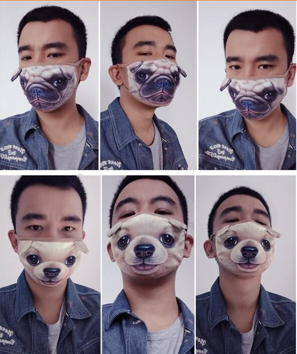 Unisex Men Women Cute Cartoon Dog Cycling Anti Dust Cotton Mouth