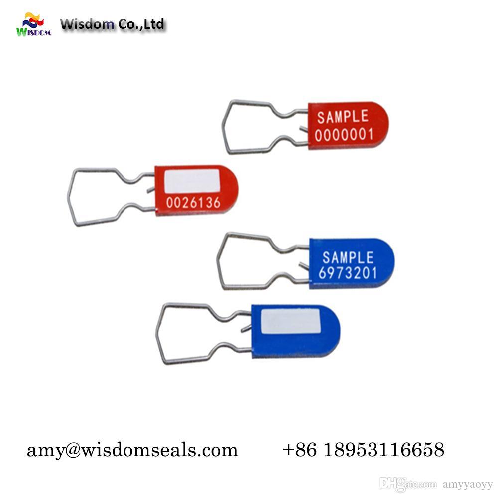Einmalige Kunststoff-Vorhängeschloss-Versiegelung für Behälter-Heißgaszähler mit Heißprägung und Laserdrucksperre für Logistiktransport und Geldsäcke
