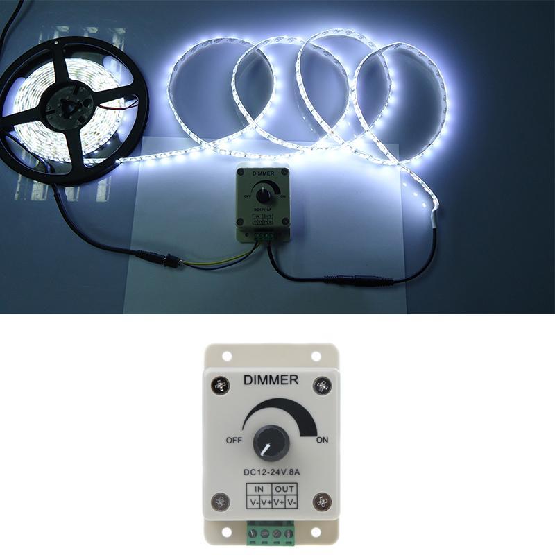Livraison Gratuite DC12-24V LED Gradateur Commande par Bouton LED Gradateur PWM 12V-24V LED Gradateur pour LED Bande Lumineuse