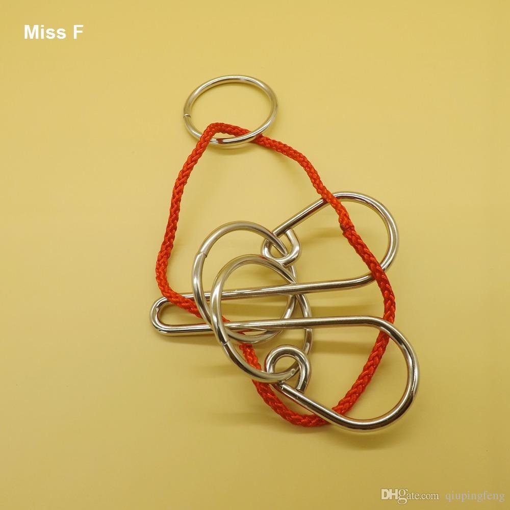 Funny Crown Ring Puzzle Juguetes Educativos Juego Mágico Wire Puzzle Gadget