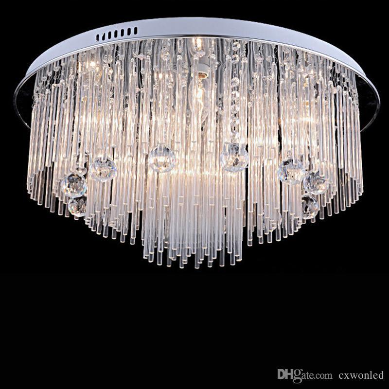 Modern LED Kristal Avize Odası Yemek Beach House Yatak odası için aydınlatma, AC110-240V LED Kristal Tavan armatürleri lambalar