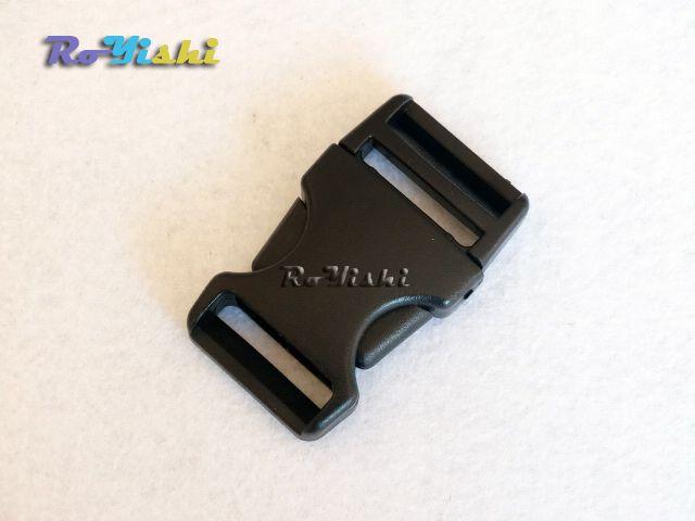"""10pcs/pack 1"""" Plastic Side Release Buckle Backpack Straps Webbing 25mm Black"""