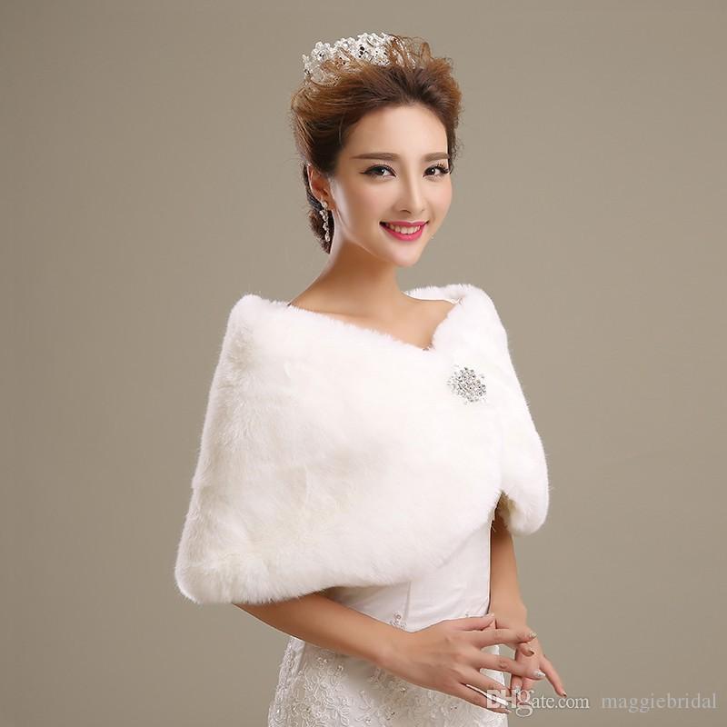 Großhandel Freies Verschiffen Braut verpackt Bolero Braut