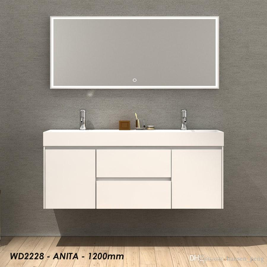 2021 1200mm Bathroom Furniture Free Standing Vanity Stone Solid Surface Blum Drawer Cloakroom Wall Hung Cabinet Storage 2228 From Hansen Peng 1 582 92 Dhgate Com