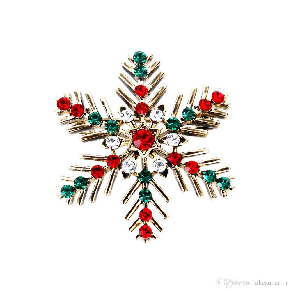 Vintage Christmas.2019 Retro Vintage Christmas Snowflake Rhinestone Crystal Brooch Lapel Pin For Women Ladies Christmas Gift Jewelry Accessories From Lakesuperior