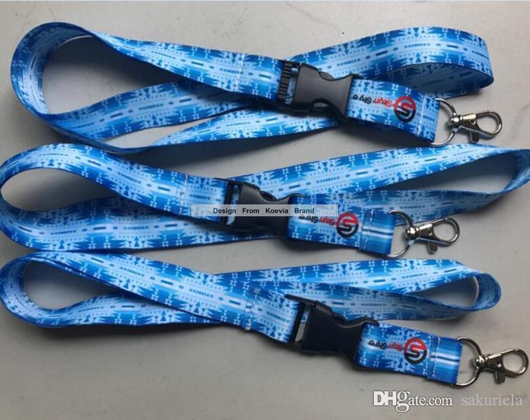 Promosyon Yeni Ucuz Özel Logo Baskı Polyester Boyun Boyunluklar 20 MM Genişlik Hediye Askı