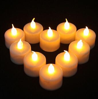 LED Kerzenlicht Rauchfrei Flammenlos Elektronische Flash Multi Farben Licht Kerzenlampe Weding Party Decor 24 Teile / los
