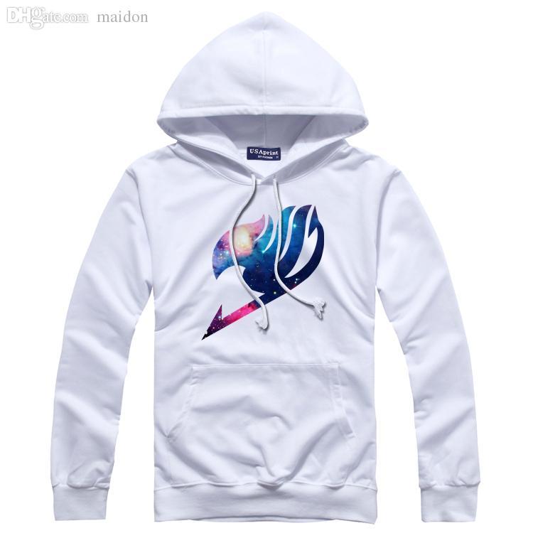 Al por mayor-HIP HOP Fairy Tail Fairy sudaderas deportivas hombres y mujeres chaqueta con capucha del hip hop sudaderas cola y sudaderas