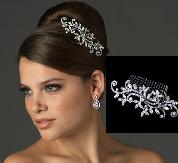 Fancy Wedding Bridal Hair pettine Gioielli Fiore di cristallo Diademi Accessori per capelli Sparkly sposa capelli pettini In magazzino pronto per la spedizione