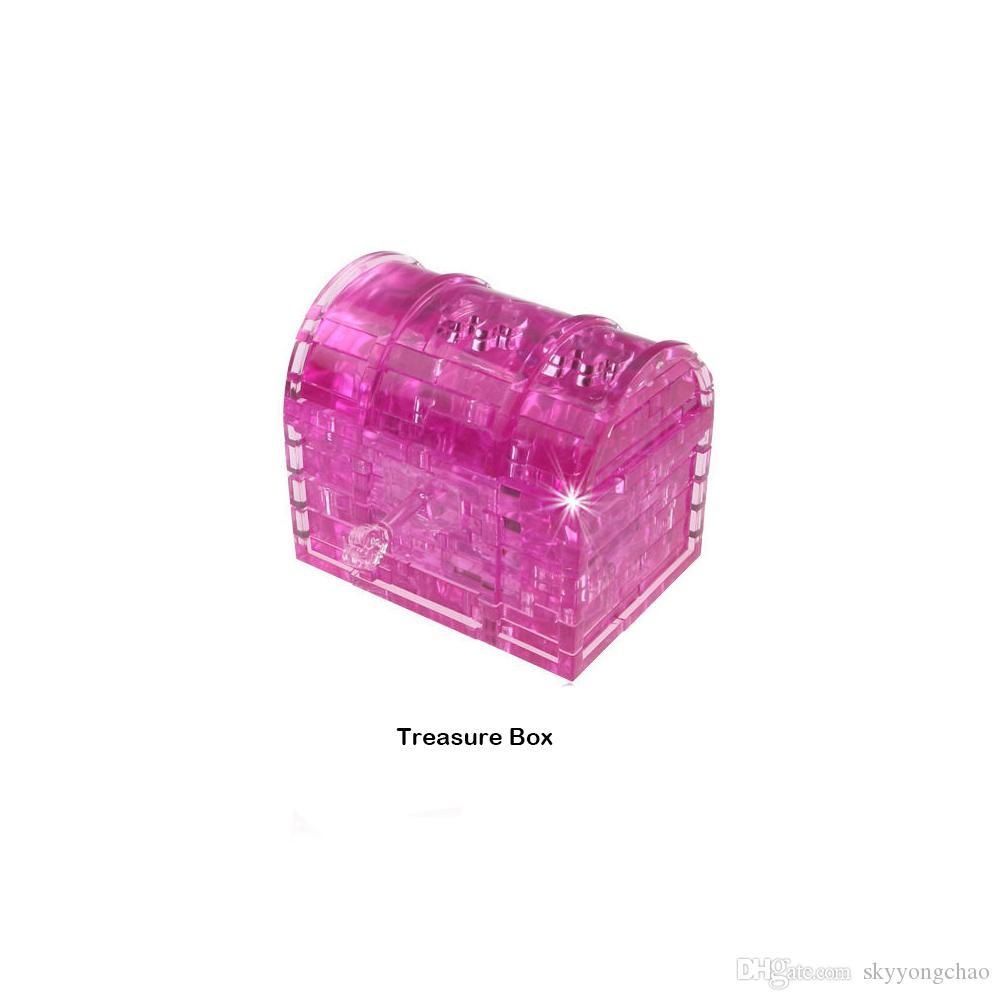 3D نموذج صندوق كريستال لغز الأطفال ألعاب تعليمية البلاستيك تجميعها لعبة