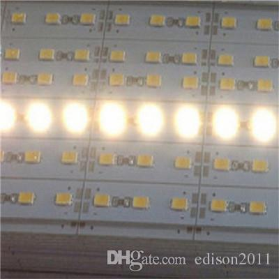5630 Hard LED Strip 72 LEDs Cool Warm White Light Rigid Strip DC 12V Aluminium Profile Shell Indoor Decoration Free DHL