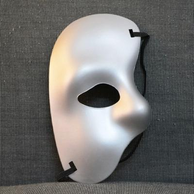 60pc Party mask half face mask. Phantom of the Opera - right half of the face cloth mask