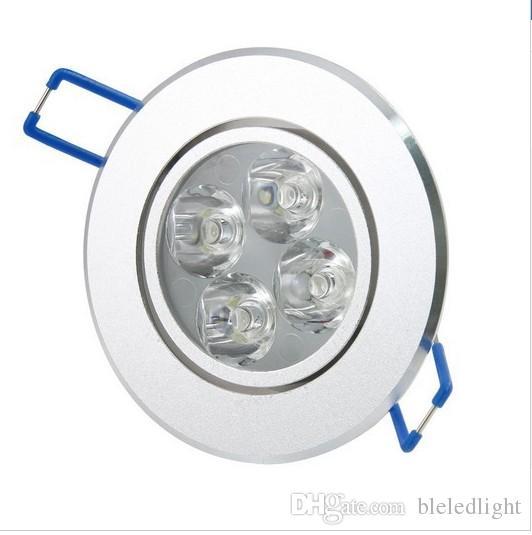 4 * 3W 12W LED Sufit Down Light Kryty Lampy Spot AC 85-265V Ciepłe Białe / Cool White Darmowa Wysyłka