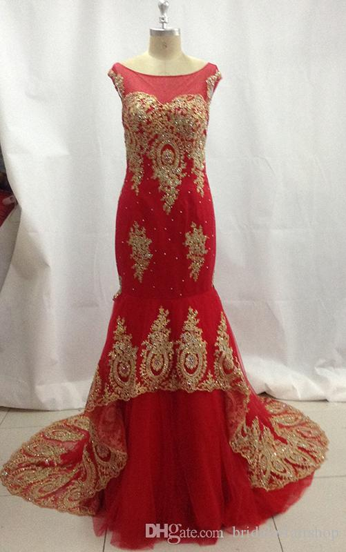 2018 new style sexy red wedding dress lace mermaid bridal gown mermaid tulle long bridal dresses