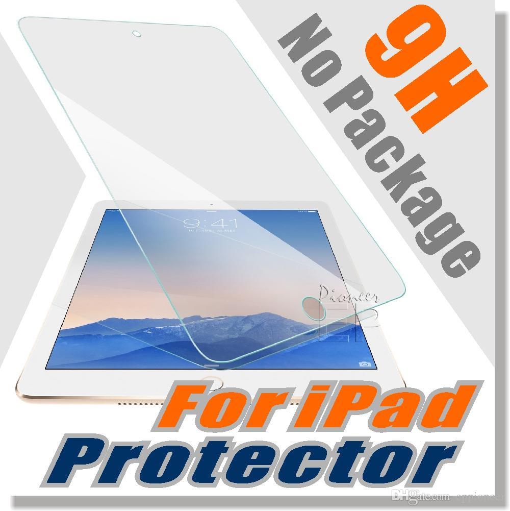 Per Ipad Mini 4 Ipad Pro 9.7 Proteggi schermo in vetro temperato Ipad 2/3/4 iPAD Air1 / 2/3 Con durezza 9H Anti-graffio / infrangibile NO Confezione