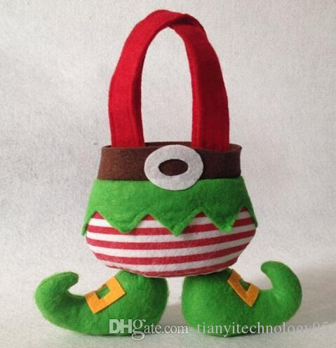 Christmas Elf Socks Gift Bags Holiday Secret Santa Candy Bags Stocking Filler Practical Home for Christmas Elf Foot Gift Bag Xmas Christmas