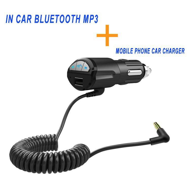 車のブルートゥースのスピーカータバコの軽量の電動ハンズフリーの携帯電話の車の充電器機能USBスロット3.5mm