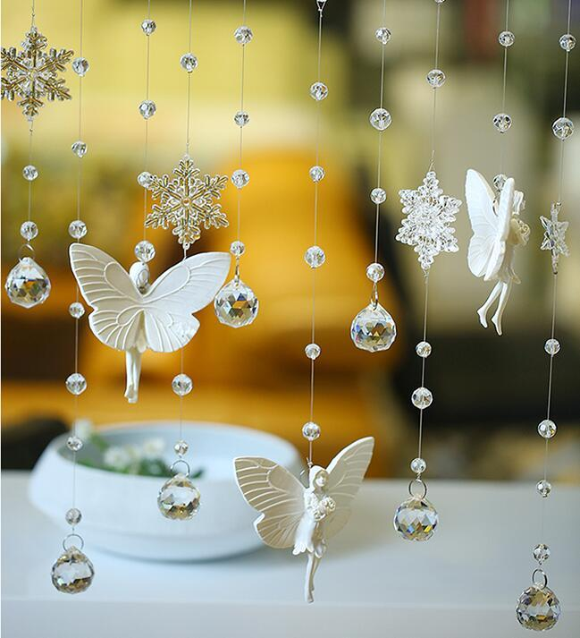New Customized Christmas Door Windows Home Decoration Crystal Beads Curtain Screens Room Dividers