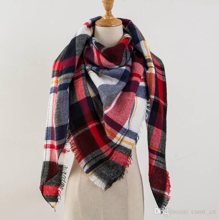الشتاء وشاح الترتان الكشمير وشاح المرأة منقوشة بطانية وشاح جديد مصمم أكريليك شالات الأساسية والأوشحة المرأة والأغطية
