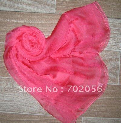 Bayan 100% ipek Katı eşarp Şal, Sarar Atkılar Neckscarf 180 * 110 cm 16 adet / grup karışık renk # 2052