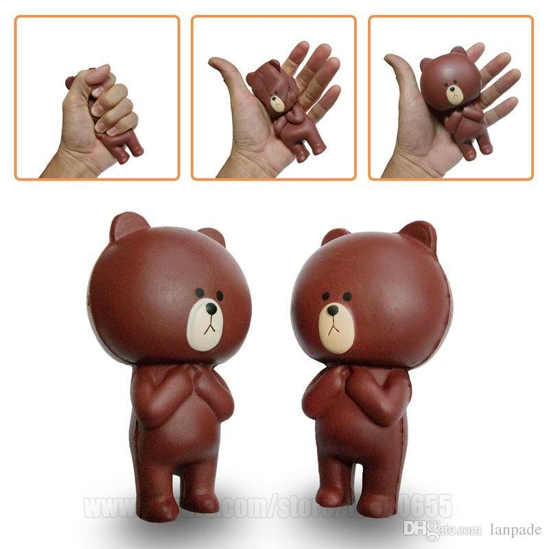 Brown Bear Squishy Animal Squishies Kawaii Cartoon